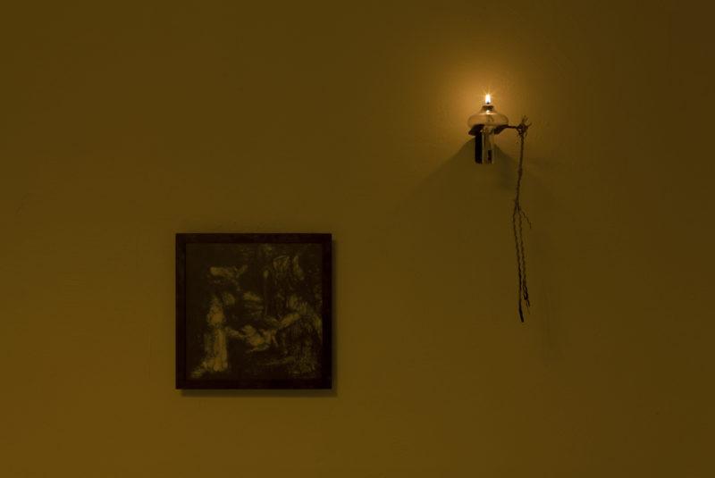 Andrea Magnani drawing at night