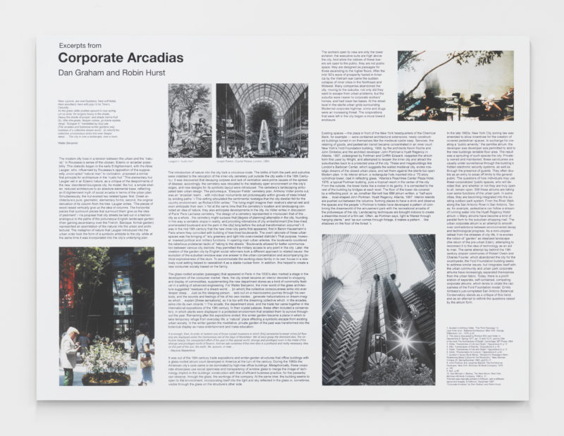Dan Graham and Robin Hurst, Corporate Arcadias (excerpt), 1987 - 2018