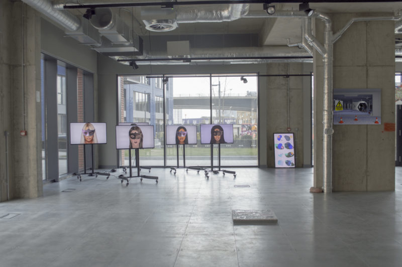 I'm sorry, I didn't quite catch that, 2018. Installation view, arebyte Gallery, London